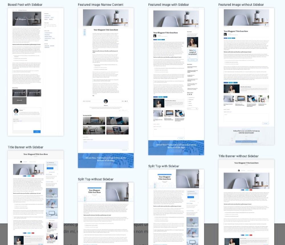 Thrive Theme builder - Modèles de Blog et d'articles