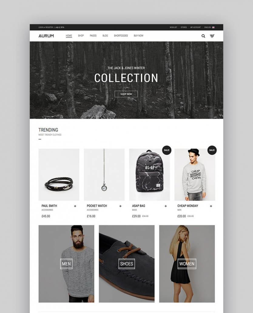 Aurum - Thème E.commerce minimaliste