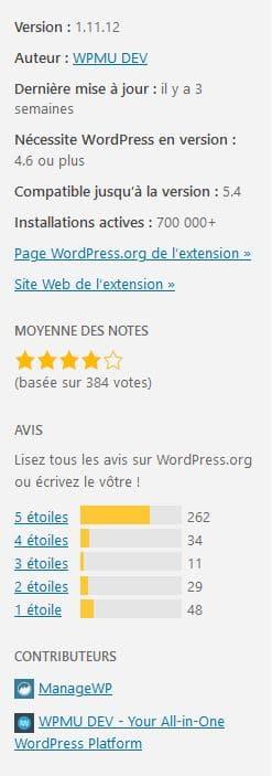 Extensions WordPress - Critères de choix