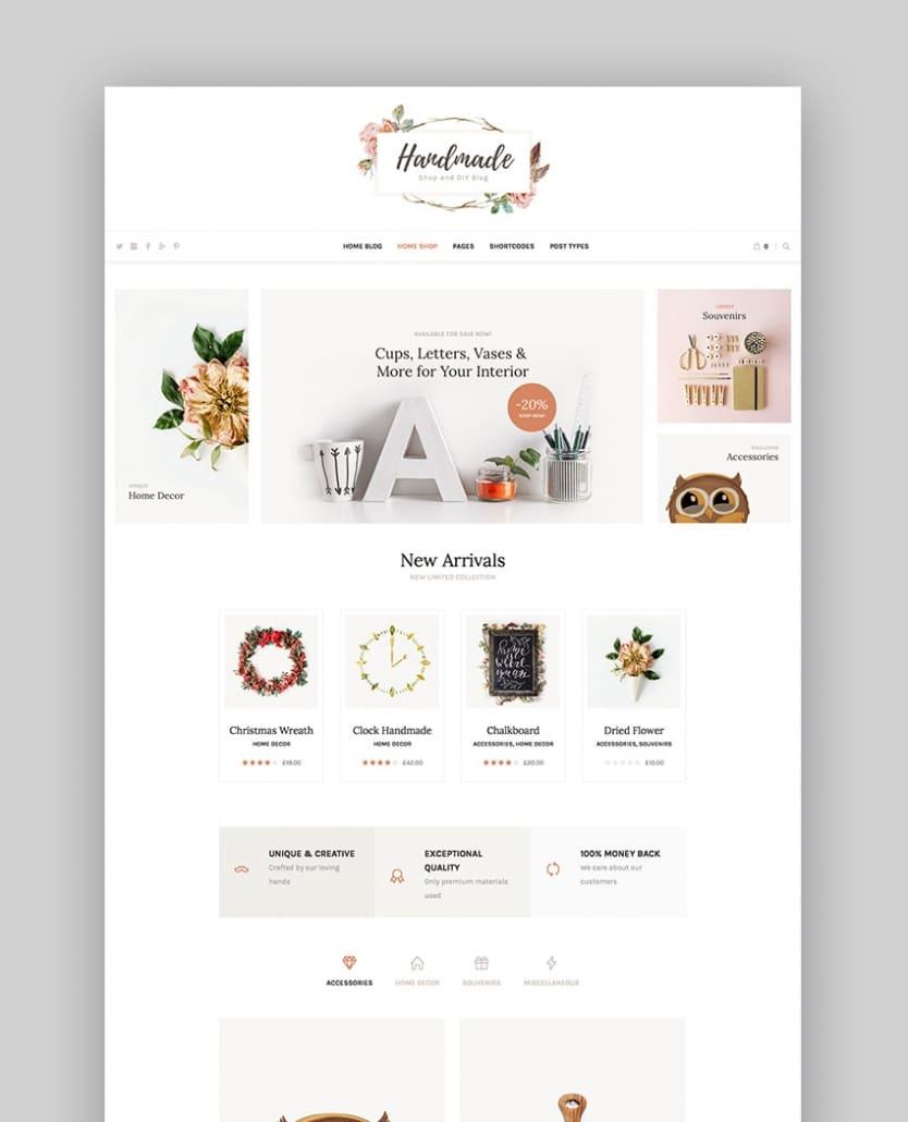 Handmade Shop - Handicraft Blog Creative Shop Thème WordPress