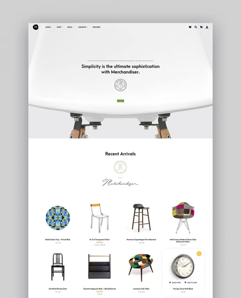 Merchandiser - Thème WooCommerce Premium