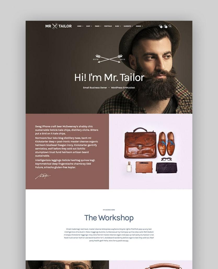 Mr. Tailor - Thème pour boutique en ligne de mode et de vêtements - WooCommerce