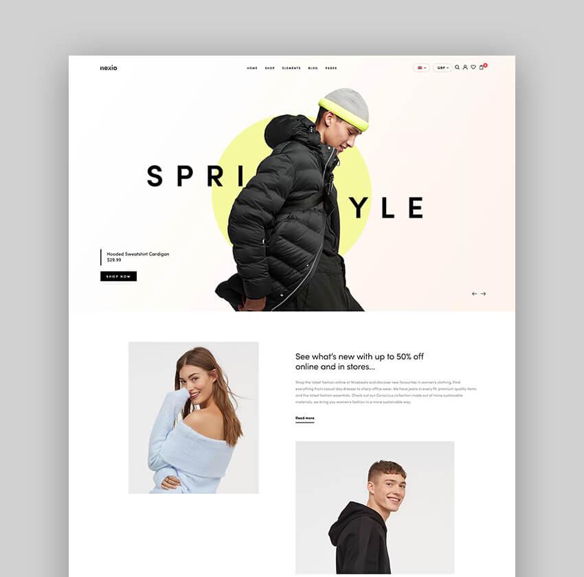 Nexio - Thème WooCommerce pour une boutique de mode