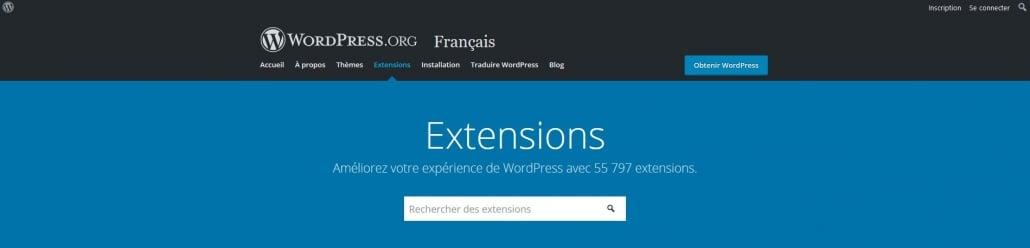 Répertoire officiel des extensions WordPress