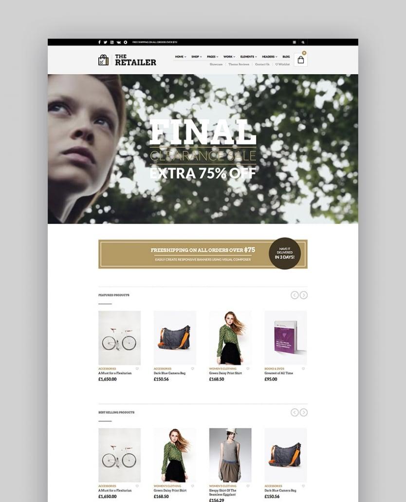 The Retailer - Thème WooCommerce Premium