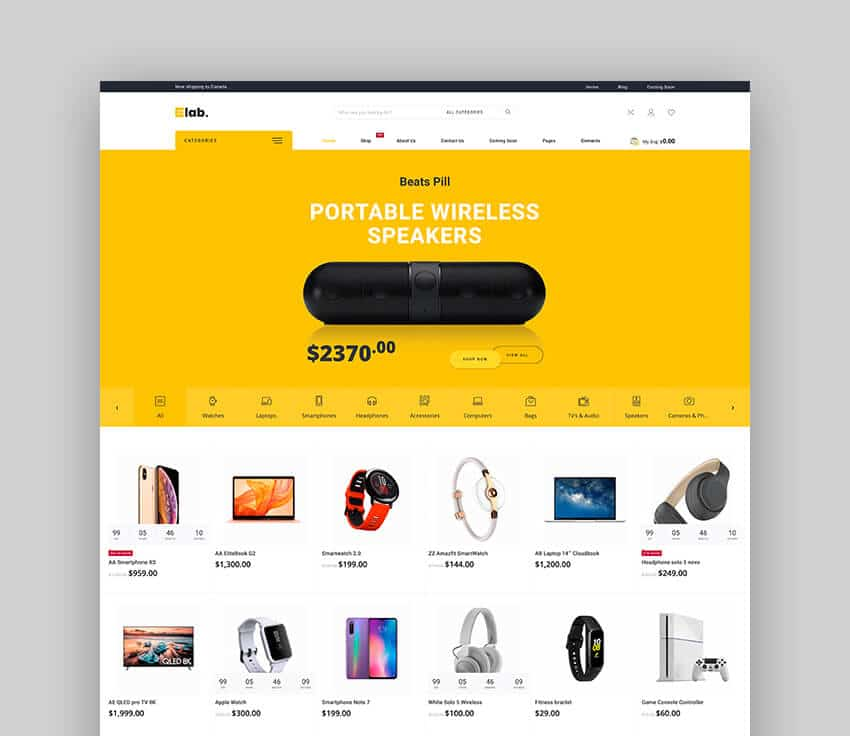 eLab - Thème WooCommerce multi-fournisseurs