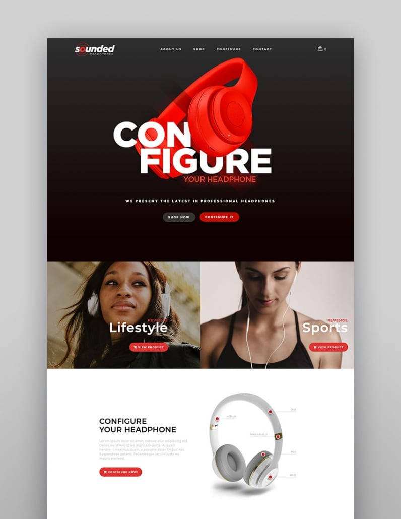 Configurateur WP : Thème WordPress de WooCommerce