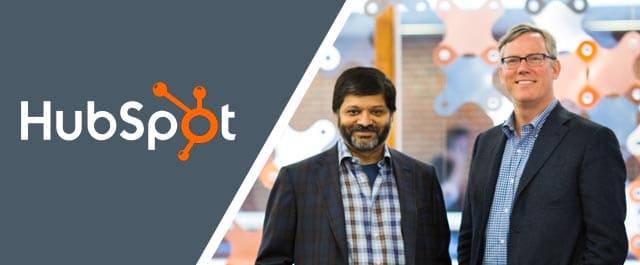 Brian Halligan et Dharmesh Shah, cofondateurs de HubSpot.