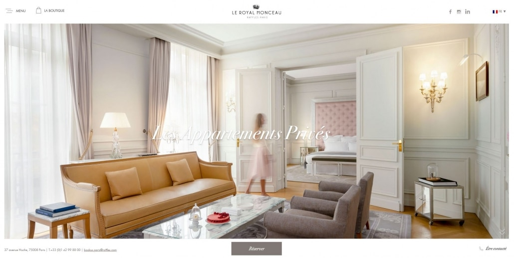 Wordpress - Le Royal Monceau
