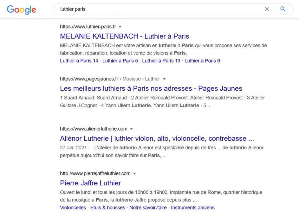 serp google resultats seo